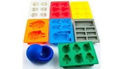 Set of 8 Star Wars Silicone Ice Trays / Chocolate Molds: Stormtrooper, Darth Vader, X-Wing Fighter, Millennium Falcon, R2-D2, Ha