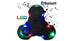 SADES Prime Fidget Spinner with LED lights and Bluetooth Speaker best cool light up double sided toy